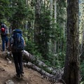 The trail to Wedgemount Lake is a 7-kilometer grind- Mount Weart