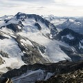 From the summit of Mount Weart, the view of Wedge Mountain is excellent.- Mount Weart
