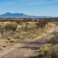 A dirt road provides a quicker ride alternative for covering distance.- San Pedro River Trails