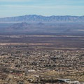 Tombstone and Cochise Stronghold across the valley.- Cooper Loop