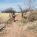 Riding the perimeter of Fort Huachuca.- Garden-Brown Canyon Loop