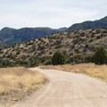 Riding the road from Brown Canyon Ranch.- Garden-Brown Canyon Loop