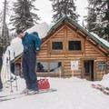 The winter entrance to the Wheeler Hut.- A.O. Wheeler Hut