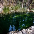 The first pool encountered at the bottom of the trail.- Fosso Bianco