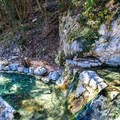 Just below the first pool is a series of four pools situated along a cold water creek that flows trough the site.  - Fosso Bianco