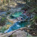 The sulfur smell in this series of pools isn't as strong as it is in the rest of the pools down stream.- Fosso Bianco