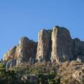 Casa Grande Peak towering over the trailhead.- Lost Mine Trail