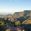 View over Juniper Canyon and the desert far below.- Lost Mine Trail