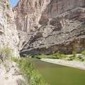 Nearing the end of the trail along the river.- Boquillas Canyon Trail