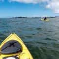 Paddling from Santa Cruz Harbor to the Santa Cruz Wharf.- Santa Cruz Harbor