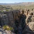 The canyon gets deeper and deeper but stays quite narrow.- Devils Den