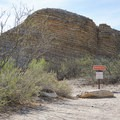 Beginning the short hike to the hot springs.- Hot Springs Historic Site