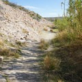 The hot spring loop continues up on top of the bluff past the springs.- Hot Springs Historic Site