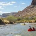 Leisurely floating on a desert river.- Santa Elena Canyon of the Rio Grande