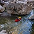 Rock Slide Rapid at fairly low water.- Santa Elena Canyon of the Rio Grande