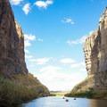 Exiting Santa Elena into open desert once more.- Santa Elena Canyon of the Rio Grande