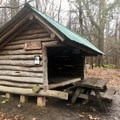 Old orchard shelter.- Grayson Highlands Backpacking Loop