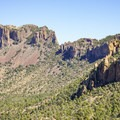 Casa Grande Peak dominates the view for the first half of the ascent.- Emory Peak via Pinnacles Trail