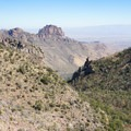 View eastward as the trees thin out on the mountain's high south slopes.- Emory Peak via Pinnacles Trail