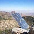 Radio signal equipment shares the summit, but views are still phenomenal.- Emory Peak via Pinnacles Trail