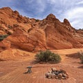 What a gorgeous place to pitch a tent. - Babylon Arch Trail to the Virgin River