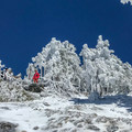 Climbing Mount Baldy in winter via Register Ridge. - Mount Baldy via Register Ridge