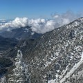 Looking back to the valley.- Mount Baldy via Register Ridge