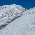 Looking toward Devil's Backbone.- Mount Baldy via Register Ridge