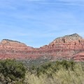 View from Yavapai Point parking lot.- Hiline Trail Loop to Cathedral Rock