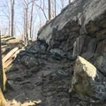 Be ready for some rocky portions on the Cliff Trail.- Cunningham Falls