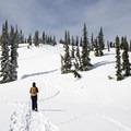 Zoa Peak is a popular trail for snowshoers and skiers- Zoa Peak