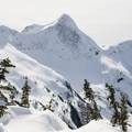 Yak is an impressive mountain, and its northern face is a good destination for experienced backcountry skiers.- Zoa Peak