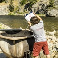 Adding cold water.- Boat Box Hot Spring