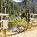 Access to the river from the campground.- Salmon River Campground