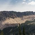 Beautiful light on a ridge in the Sawtooth Mountains.- Titus Lake Trail