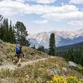 Hiking down the Titus Lake Trail.- Titus Lake Trail