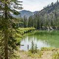 Titus Lake is great for swimming.- Titus Lake Trail