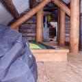 The upstairs sleeping quarters. - A.O. Wheeler Hut