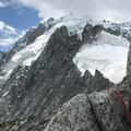 Aiguille Verte in the distance.- Grands Montets: East Ridge