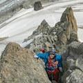 Climbers on east ridge.- Grands Montets: East Ridge