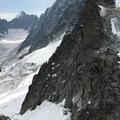 Looking toward Argentiere Glacier.- Grands Montets: East Ridge