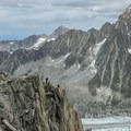 Looking at the ridge from the station.- Grands Montets: East Ridge
