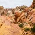 Canyon wash in Valley of Fire State Park.- White Domes Loop