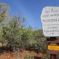 Wilderness sign.- Wilson Mountain hike