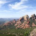 Red rocks as seen from Wilson Mountain Trail.- Wilson Mountain hike