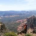 The Sedona viewpoint atop Wilson Mountain.- Wilson Mountain hike