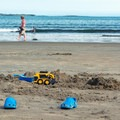 Sand excavation activities.- Old Orchard Beach