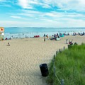 A view from The Pier to the beach.- Old Orchard Beach