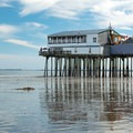 The restaurant at the end of The Pier.- Old Orchard Beach