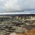 Panorama of the Little Painted Desert.- Little Painted Desert